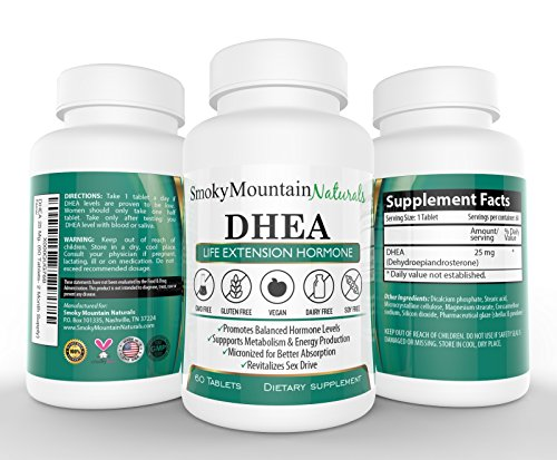 DHEA / Extra Strength- 25 Mgs (2 Month Supply). Boost Hormone Levels, Anti-aging, Improve Bone Strength, and Sexual Functions. Considered the Life Extension Hormone! Soy-Free, Gluten-Free, Dairy-Free, Vegan, Non-GMO, And Animal Cruelty-Free. One Less Tablet Per Serving Than Competitors. 100% Money Back Guarantee! (Hormone Spray compare prices)