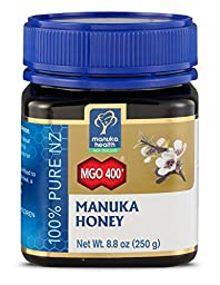 Manuka Health - MGO 400+ Manuka Honey, 100% Pure New Zealand Honey, 8.75 oz (250 g) (FFP)