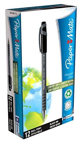 paper-mate-s0190113-flexgrip-ultra-feststehender-kugelschreiber-mit-mittlerer-spitze-12er-packung-ti