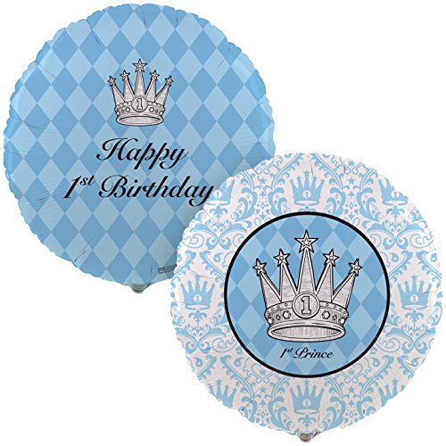Birthday Express - Elegant Prince Damask 1st Birthday Balloon