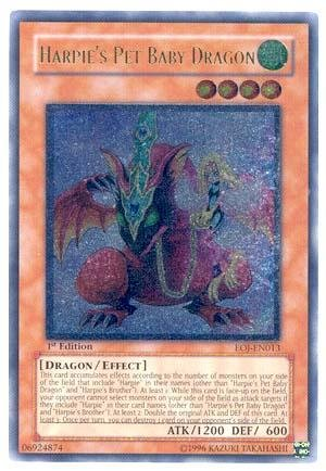 Yu-Gi-Oh! - Harpie'S Pet Baby Dragon (Eoj-En013) - Enemy Of Justice - 1St Edition - Ultimate Rare front-705804