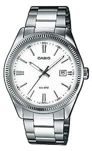 Casio - MTP-1302D-7A1VEF - Montre Homme - Quartz Analogique - Cadran Blanc - Bracelet Acier Argent