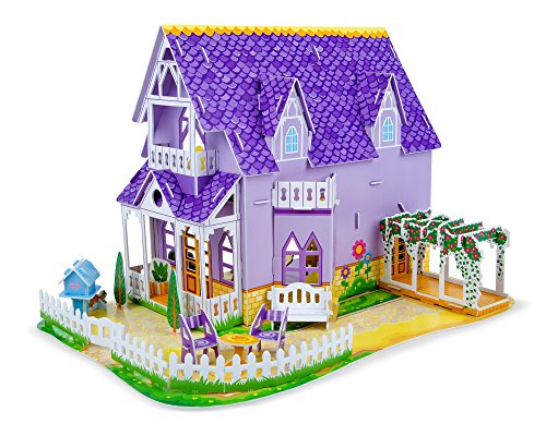 Melissa-Doug-Pretty-Purple-Dollhouse-3D-Puzzle