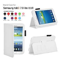 Elsse For Tab 3 Lite - Premium Folio Case for Samsung Galaxy Tab 3 Lite Tablet (Samsung Tab 3 Lite, White)