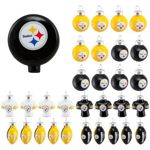 NFL 31 Piece Ornament Set NFL Team: Pittsburgh Steelers
