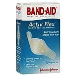 Band Aid Activ-Flex Adhesive Bandages, Regular Size, 10 bandages