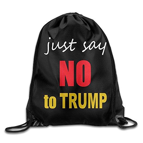 NJ Apparel Just Say No To Dump Drawstring Backpack Gymsack Sack Pack Sack Bag