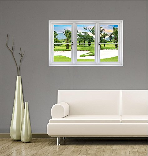 Window Landscape Scene Nature View TROPICAL GOLF COURSE