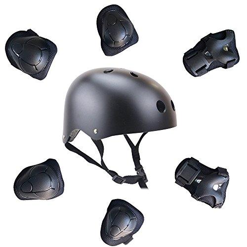 topfire-casque-genouillere-coudiere-protege-poignet-pour-enfants-7-pcs-sets-noir