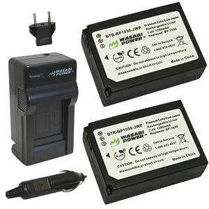 Wasabi Power Battery (2-Pack) and Charger for Samsung BP1030, BP1130, ED-BP1030 and Samsung NX200, NX210, NX300, NX1000