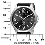 U.S. Polo Assn. Men's USC50007 Oversized Black Dial Leather Strap Watch