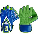 BDM Dynamic Super Wicket Keeping Gloves, Men's (Blue/Green)