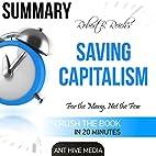 Robert B. Reich's Saving Capitalism:…