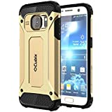 Galaxy S7 Case Cubix Rugged Armor Case For Samsung Galaxy S7 (Gold)