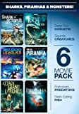 Cover art for  6-Movie Pack: Sharks Piranhas & Monsters