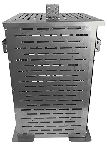 Professional-Grade-Products-9800803-High-Grade-Stainless-Steel-Burn-Barrel-Incinerator-Cage-32-Height-x-22-Length-x-22-Width