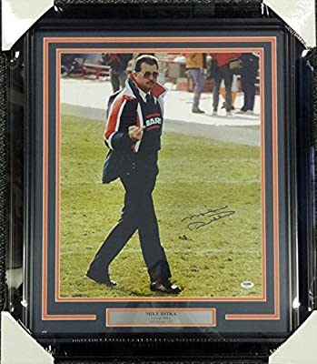 Mike Ditka Autographed Framed 16x20 Photo Chicago Bears Giving The Finger PSA/DNA