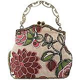 Smarstar Fashion Women Vintage Clutches Purse Evening Handbag Shoulder Hand Bag - Pink