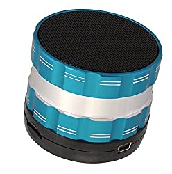 Portable Bluetooth Wireless Speaker with Microphone - Powerful Wireless Speaker - Compatible with iPhones, Samsung, Galaxy,Nokia, HTC, Blackberry, Google, LG, Nexus, iPad, Tablets, Mobile Phones, Smartphones, PC's, Laptops etc. Blue