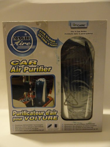 Image of Ioncare Car Air Purifier with Five Stage Cleaning Process - Fits in Cup Holder (IC2152)