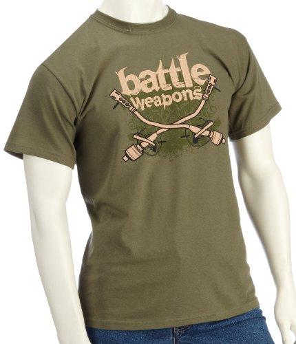 DMC Technics Battle Weapons DJ Green Mens T-Shirt Small