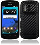 Skinomi® TechSkin - Nokia 808 PureView Screen Protector + Carbon Fiber Black Full Body Skin Protector / Front & Back Premium HD Clear Film / Ultra High Definition Invisible and Anti Bubble Crystal Shield with Free Lifetime Replacement Warranty - Retail Packaging