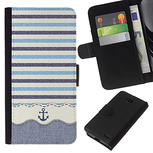 All Phone Most Case / Special Offer Leather Wallet Case Protective Cover for LG OPTIMUS L90 // Stripws Crocheted Fabric Boat