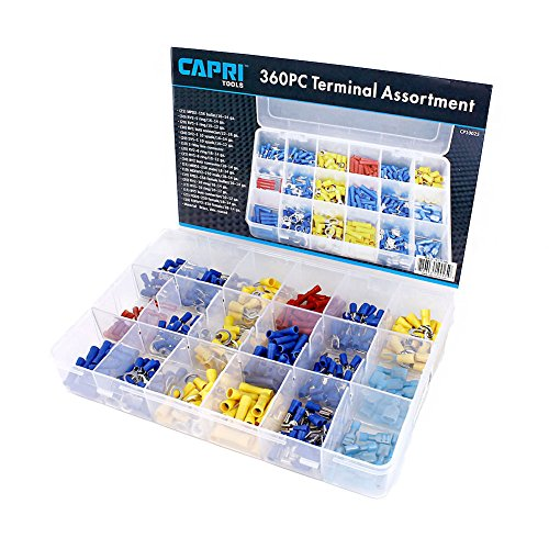Capri Tools 10025 Capri Tools 10025 Electrical Terminal Assortment Set, 360-Piece,