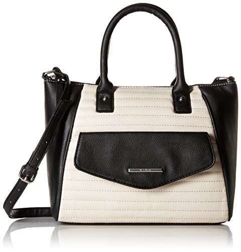 Nine West Natural Talent Satchel, Milk/Black
