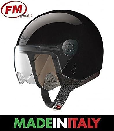 FM rS 21 casque jet noir