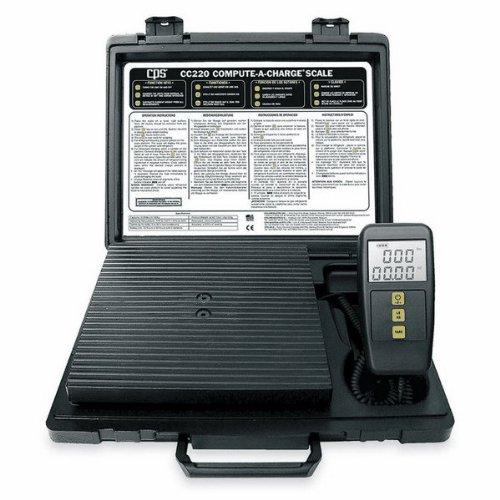 Refrigerant Charging Scales 220 Lb Capacity