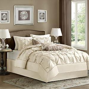 Madison Park Laurel 7 Piece Comforter Set - Ivory - Full
