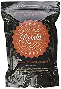 Gourmet Coffee Made From Reishi Mushrooms and Premium Roasted Arabica Beans- Choose from Costa Rican, Tanzanian, Columbian or Cameroon Roasted Coffee or Green Coffee Tea Made With Raw Unroasted Green Coffee Beans