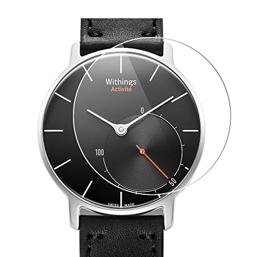 Withings Activite Screen Protector, Vikoo Ultra-thin Explosion-proof Anti-Scratch Full Coverage HD Clear Screen Protector for Withings Activite Smart Watch(2 pcs)