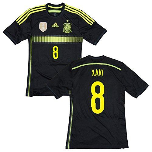 adidas(アディダス) 2014-15 スペイン代表 アウェイ半袖 #8 XAVI シャビ・エルナンデス (インポートM)