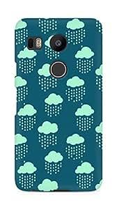 Amez designer printed 3d premium high quality back case cover for LG Nexus 5x (Cloud Pattern2)