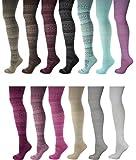Womens Over the Knee High Long Fairisle Festive Colourful Christmas or Everyday Socks