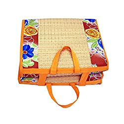 Happy products Foldable sleeping cushion mat with premium cotton single 3ftX6ft