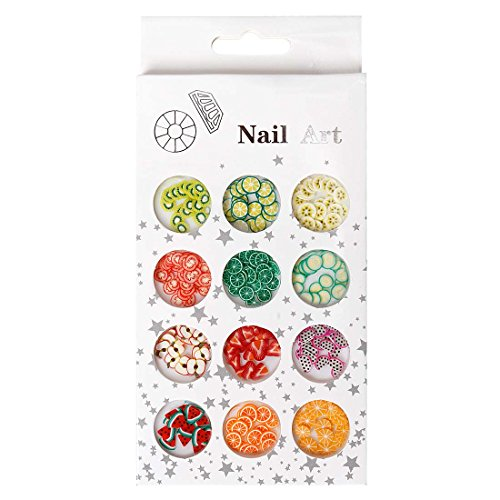 Bmc 12 Pot Fruit And Veggie Variety 3D Nail Polish Art Fimo Studs - Garden Party front-326567