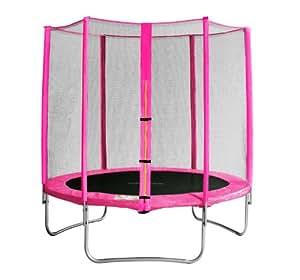 SixBros. Sixjump 1,85 M Trampoline de jardin rose - Filet de sécurité - CST185/L1565