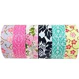 Wrapables Set of 6 Japanese Washi Masking Tape Collection Premium Value Pack, VPK2