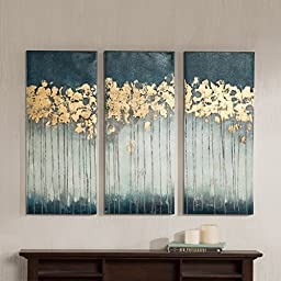 Midnight Forest Gel Coat Canvas with Gold Foil Embellishment 3-piece Set