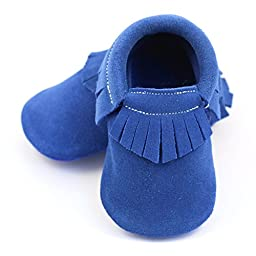 Moccasin Royal Blue 18-24 mos