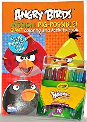 Angry Birds Mission- Pig-possible Coloring Book with Twistable Crayola Crayons