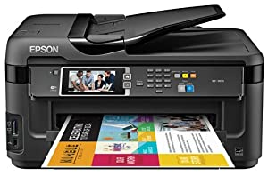 Epson WorkForce WF-7610 Wireless and WiFi Direct, All-in-One Wide-Format Color Inkjet Printer, Copier, Scanner, 2-Sided Auto Duplex, ADF, Fax. Prints from Tablet/Smartphone. AirPrint Compatible. (C11CC98201) from Epson