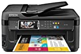 Epson WorkForce WF-7610 Wireless and WiFi Direct, All-in-One Wide-Format Color Inkjet Printer, Copier, Scanner, 2-Sided Auto Duplex, ADF, Fax. Prints from Tablet/Smartphone. AirPrint Compatible. (C11CC98201)
