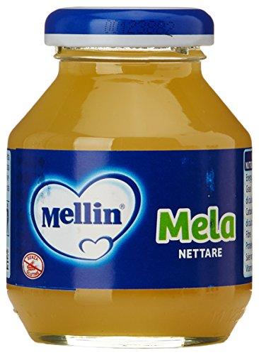 Mellin - Mela, Nettare, dal 4 mese, 125 ml x 4