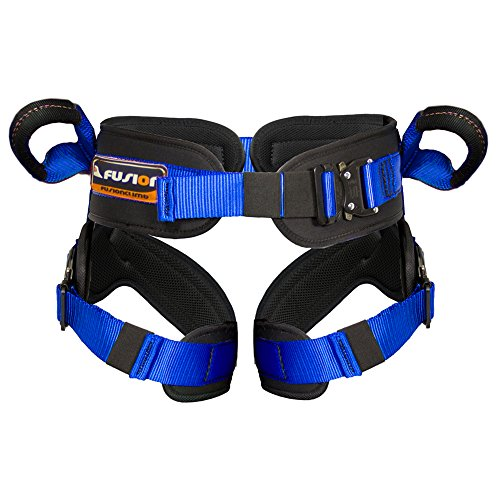 Fusion-Climb-Rebounder-Padded-Half-Body-Bungee-Trampoline-Harness-Blue-L-XL