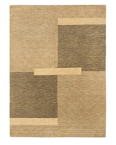 Hand-Knotted Kashkuli Gabbeh Wool Rug, Dark Gray/Khaki, 5' 9x 7' 9