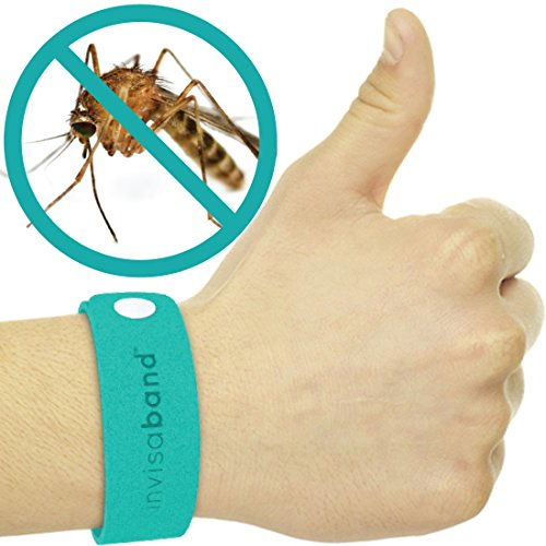 invisaband 5 Pack All Natural Mosquito Repellent Bracelets - Guaranteed to Work - Fast, Easy, No Deet, Mess, Spray or Plastic - 30 Day Money Back Guarantee